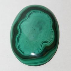 Large oval malachite cabochon, malachite from Kongo, 40x31x4 mm  FREE SHIPPING