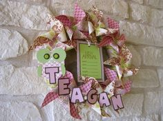Welcome Baby Wreath...love the name