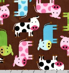 Crafters Vision - Robert Kaufman - Urban Zoologie - Spring Cows Cotton Fabric , $8.60 (http://www.craftersvision.com/robert-kaufman-urban-zoologie-spring-cows-cotton-fabric/)