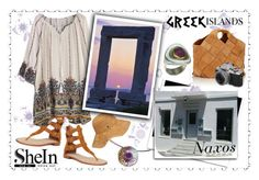 Naxos island Greece !!!!! by giampourasjewel on Polyvore featuring polyvore, moda, style, Joie, Loewe, Karen Kane, York Wallcoverings, fashion, clothing, Packandgo, shein and greekislands
