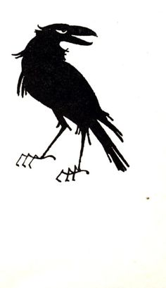 Crow    H.W.Longfellow, The Song of Hiawatha, illustrated by Joan Kiddell-Monroe, (London, J.M.Dent & sons Ltd, 1960).