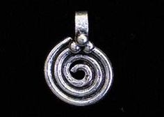 India Sterling Silver Charm 10mm