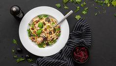 Recept: Cuketové špagety (cudle) s tuňákem | od Lucky Grusové Whole 30, Low Carb Keto, Lchf, Paleo, Pizza, Ethnic Recipes, Whole30, Beach Wrap, Paleo Food