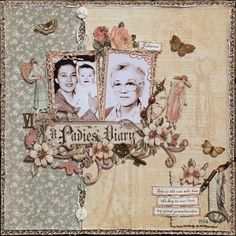Vintage-Graphic 45 A Ladies Diary page. Found on imaginariumdesigns.blogspot.dk Wendy Schultz ~ Heritage & Vintage Pages.