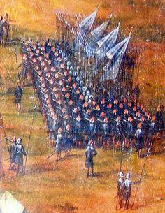 Piechota polska (gwardia)w obozie w czasie bitwy z Tatarami pod Lwowem 1676r