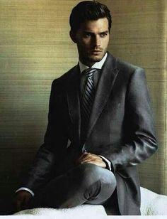 Wow Mr. Grey hott hott hott // Jaime Dornan // source Christian Grey facebook page