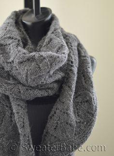 Fleur Lace Crescent Shawl. So gorgeous in dk-weight alpaca yarn!
