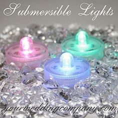 Submersible LED Floral Lights for Wedding & Party Decorations.