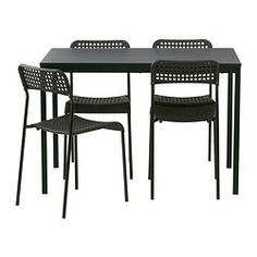 IKEA - TÄRENDÖ / ADDE, Table and 4 chairs, The melamine table top is moisture resistant, stain resistant and easy to keep clean.