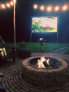 Create your perfect backyard movie night with a DIY from Brooklyn Limestone.