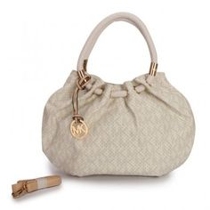 a0fb9fa87a2d Michael Kors Perforated Logo Medium Ivory Drawstring Bags College Girl  Fashion