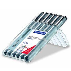 Staedtler Pigment Liner 6-set hos Pen Store - Billiga, snabba och vassast på pennor - frakt till hela Sverige!