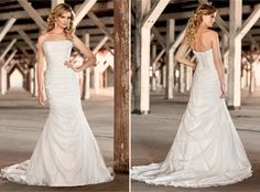 This is so simple and so pretty.  Organza with corset bodice.