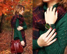 Chicnova Scarf, Woakao Bag, Voguec Sweater