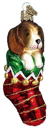 Oude Wereld Kerst Ornamenten Dogs