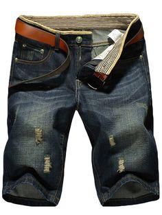 742d5f651 Fashion Ripped Denim Shorts For Men