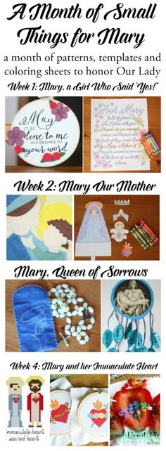 A Month of Small Things for Mary–FREE eBOOK!  Click through for this free Catholic Resource!
