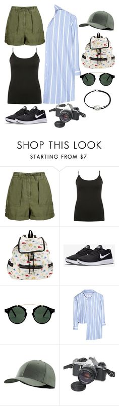 """Jungle trip"" by barboratosilova on Polyvore featuring Topshop, M&Co, LeSportsac, NIKE, Spitfire, Vetements, Arc'teryx, Pentax and Alex and Ani"