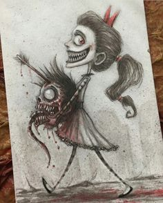 (notitle) - Zeichnungen - dibujos a lapiz Horror Drawing, Creepy Drawings, Sketches, Drawings, Fantasy Art, Drawing Sketches, Art, Dark Art Drawings, Cool Drawings