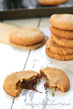 Chocolate Stuffed Peanut Butter Cookies
