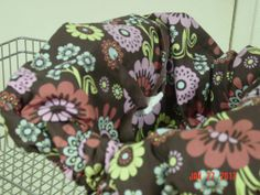 Flowers on brown shopping cart cover/ high by littlestitches59, $38.00