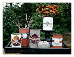 Table Centerpiece Vignette {Fall/Thanksgiving} - Fox Hollow Cottage