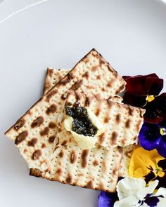 A matzo moment with beurre de baratte and ROE.