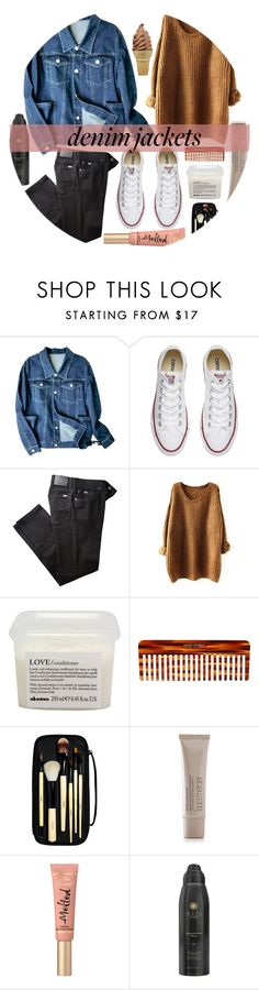 """Denim Trend: Jean Jackets - Top set for Oct 4th, 2016"" by nerd-ville ❤ liked on Polyvore featuring Converse, BRAX, Davines, Mason Pearson, Bobbi Brown Cosmetics, Laura Mercier, Too Faced Cosmetics and Soleil Toujours"