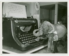 Giant Typewriter at the 1939 NY Worlds Fair