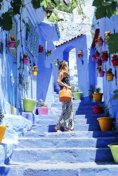 The Most Colorful Towns to Visit Across the World - Chefchaouen, Morocco | GrayMalin.com