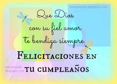 feliz cumpleaños Dios te bendiga siempre imagen cristiana