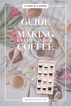 An Illustrated Guide To Making Every Type Of Coffee - drinks - Coffee Espresso Recipes, Espresso Drinks, Coffee Recipes, Coffee Drinks, Tea Recipes, Drink Recipes, Breakfast Recipes, Melitta Coffee Maker, Coffee Guide