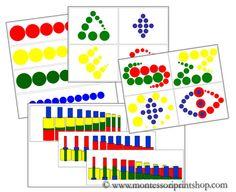 Montessori Knobless Cylinder Pattern Cards