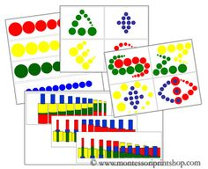 Montessori Knobless Cylinder Pattern Cards