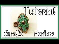 DIY - Tutorial anello SuperDuo Hombre   Beads Ring - YouTube