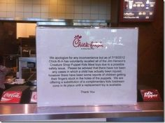 Chick-fil-A has 'voluntarily recalled all of the Jim Henson's Creature Shop Puppet Kids Meal toys' - aka bullshit