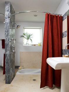 30 Bathroom Design Ideas & 67 best Open shower images on Pinterest | Small bathrooms Living ...