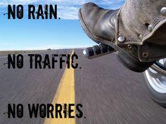 No rain, no traffic, no worries!