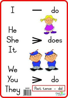 Do, does -> Link in bio to get your cords. English Grammar For Kids, Learning English For Kids, English Phonics, Teaching English Grammar, English Lessons For Kids, English Worksheets For Kids, English Writing Skills, English Verbs, Kids English