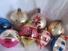 Vintage Lot Of 9 Shabby Indented Christmas by AuntSuesVintage, $9.99
