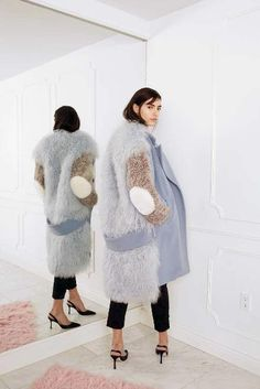 The Best Looks From New York Fashion Week | Sandy Liang Mongolian Fur Coat