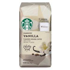 Starbucks Vanilla Flavored Ground Coffee, 11 Ounce (Pack of Starbucks Flavors, Starbucks Vanilla, Starbucks Rewards, Starbucks Drinks, Coffee Drinks, Coffee Varieties, Coffee Club, Hot Chocolate Mix, Handmade Soaps
