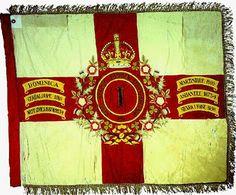 Regimental Colours of the 1st Battalion West India Regiment.