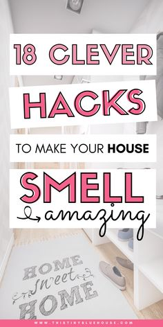 18 Ways To Make Your House Smell Amazing House Smell Good, House Smells, Diy Cleaning Products, Cleaning Hacks, Cleaning Solutions, Deep Cleaning, Storage Solutions, Cleaning Your Dishwasher, Using Dry Shampoo