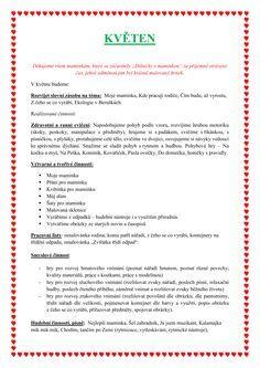 KVĚTEN Indoor Activities For Kids, Pvp, Preschool, Journal, Education, Biology, Indoor Kid Activities, Journal Entries, Nursery Rhymes
