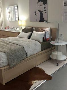 Bedroom, Malm bed in birch veneer