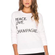 Peace Love Champagne Sweatshirt