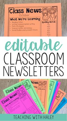 Get a year's worth of editable classroom newsletters! It is full of 115 adorable and eye-catching newsletters that you can send out weekly or monthly! | printable classroom newsletter, printable class newsletter, editable class newsletter, editable classroom newsletter, class newsletter templates, classroom newsletter templates, 5th grade newsletter, school newsletter, class newsletter template, school newsletter ideas, newsletter for teachers, newsletter ideas