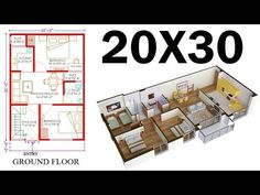 """20'-0""""X30'-0"""" HOUSE PLAN 