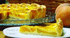 Receitas de pecados no prato: Tarte de pêssego super fácil
